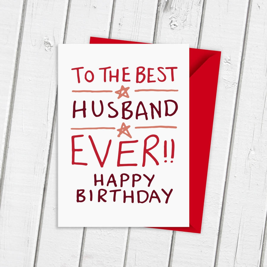 birthday card for best husband ever
