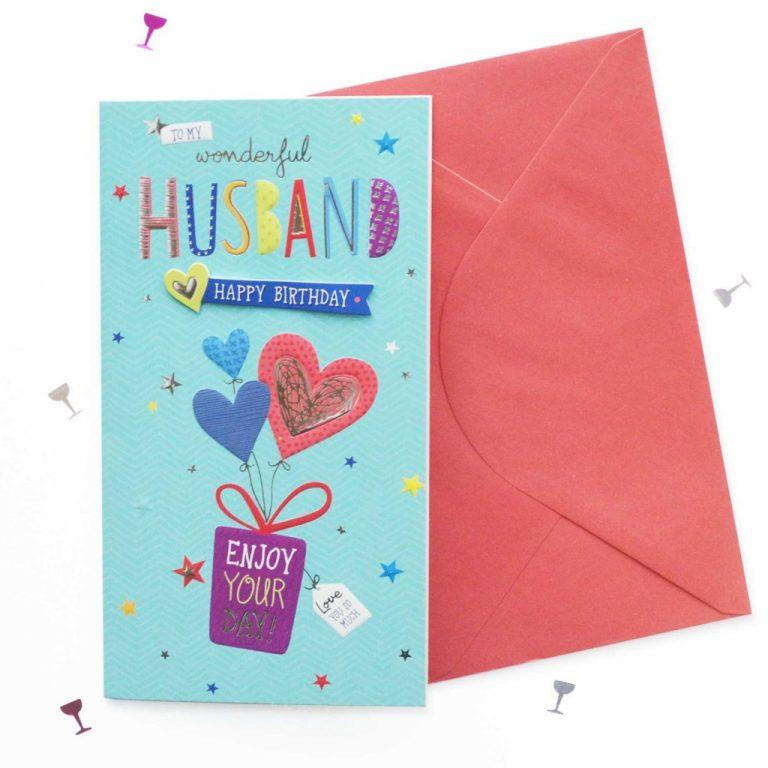 birthday card husband birthday