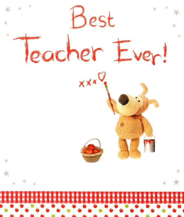 boofle best teacher ever greeting card