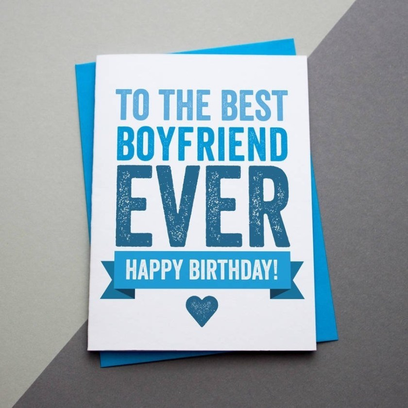 boyfriend birthday card birthday card greetings card unique card