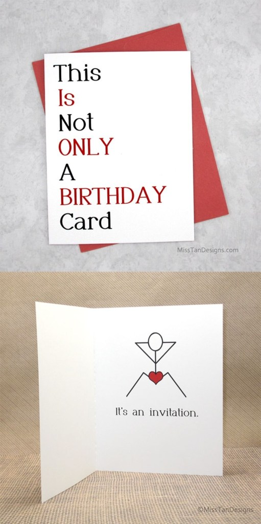 boyfriend birthday cards not only funny gift sexy card