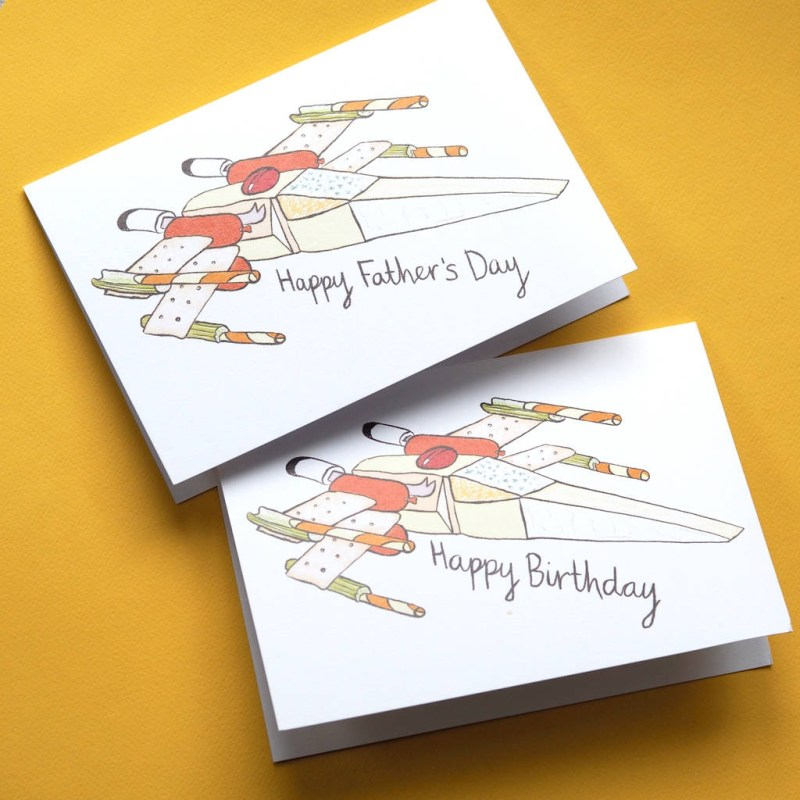 cheesy star wars fathers day or birthday card