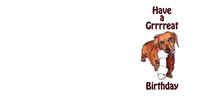 dachshund birthday card coffee mug