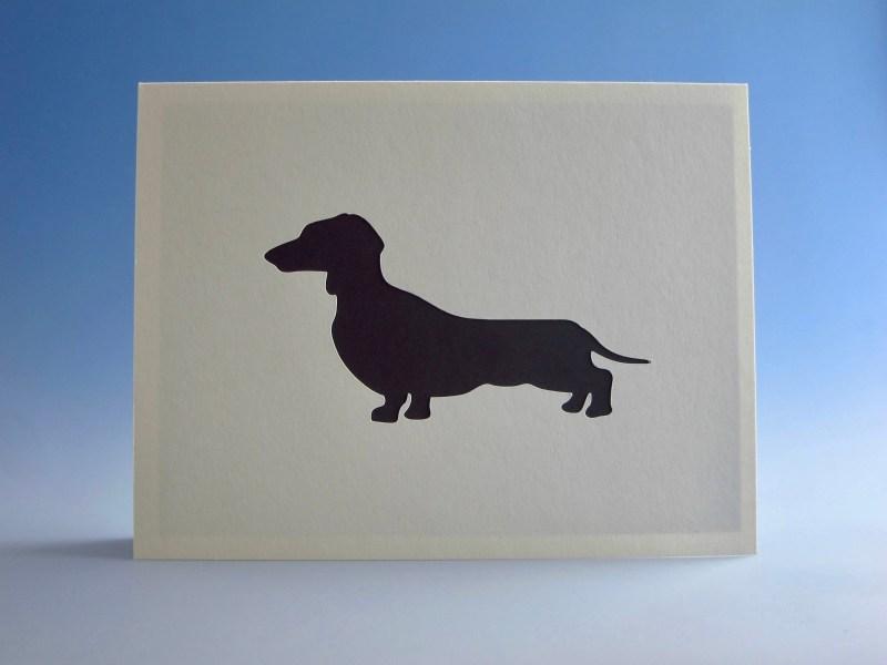 dachshund card dachshund greeting card dog owner card