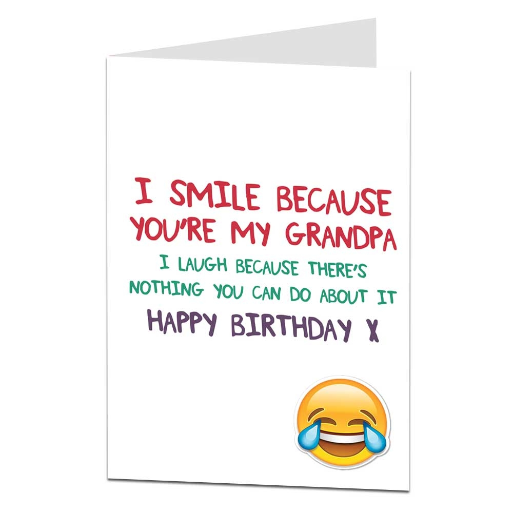 details about happy birthday card for grandpa