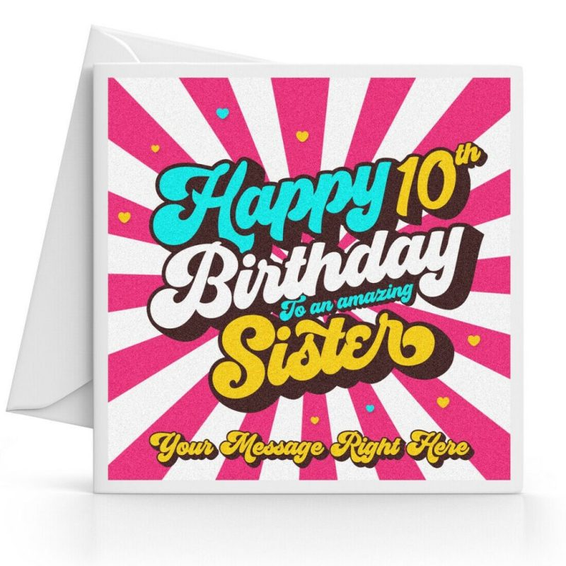 details about personalised 10th birthday card girl daughter granddaughter sister niece