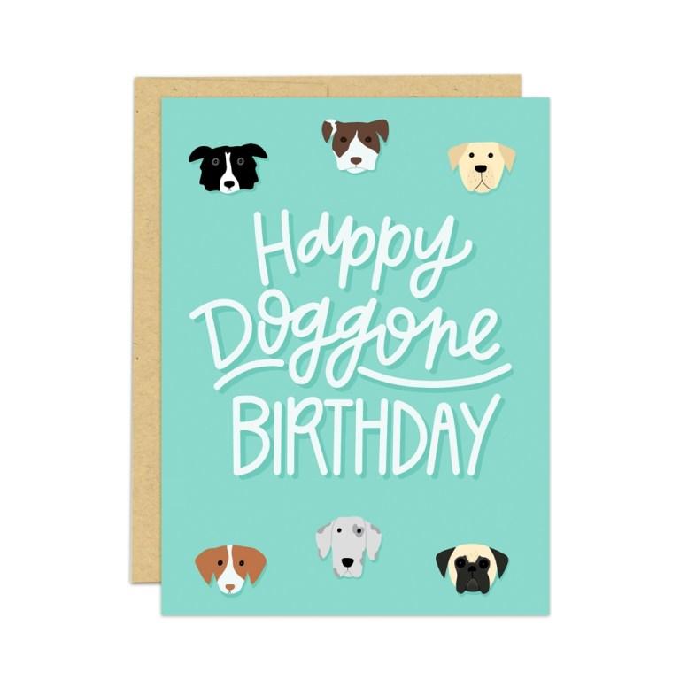 dog birthday card vic tac toe