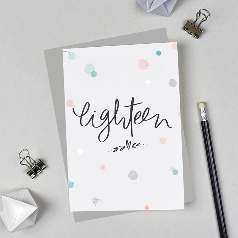 eighteen eighteenth birthday card