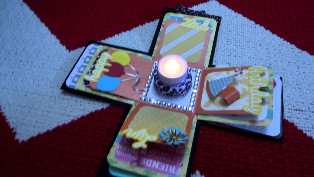 exploding box birthday card happy birthday world