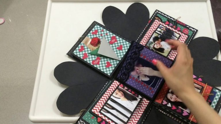 explosion box birthday box diy handmade falling card