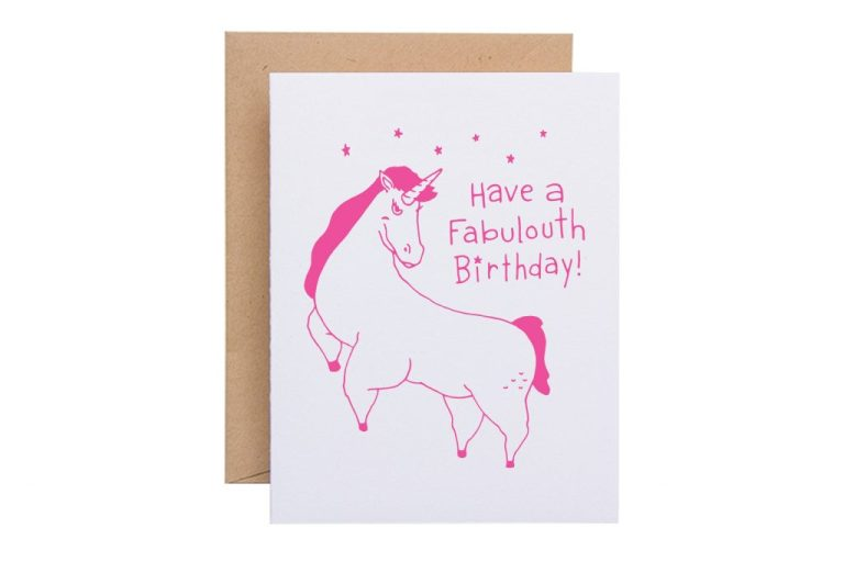 fabulouth unicorn birthday card sparkvites