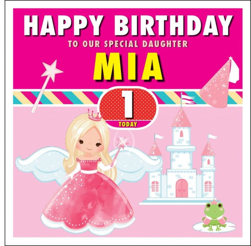 fairy personalised birthday card daughter niece granddaughter