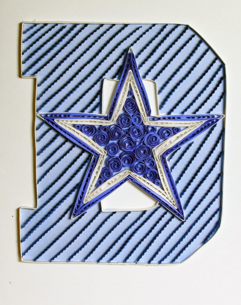 frame card dallas cowboy