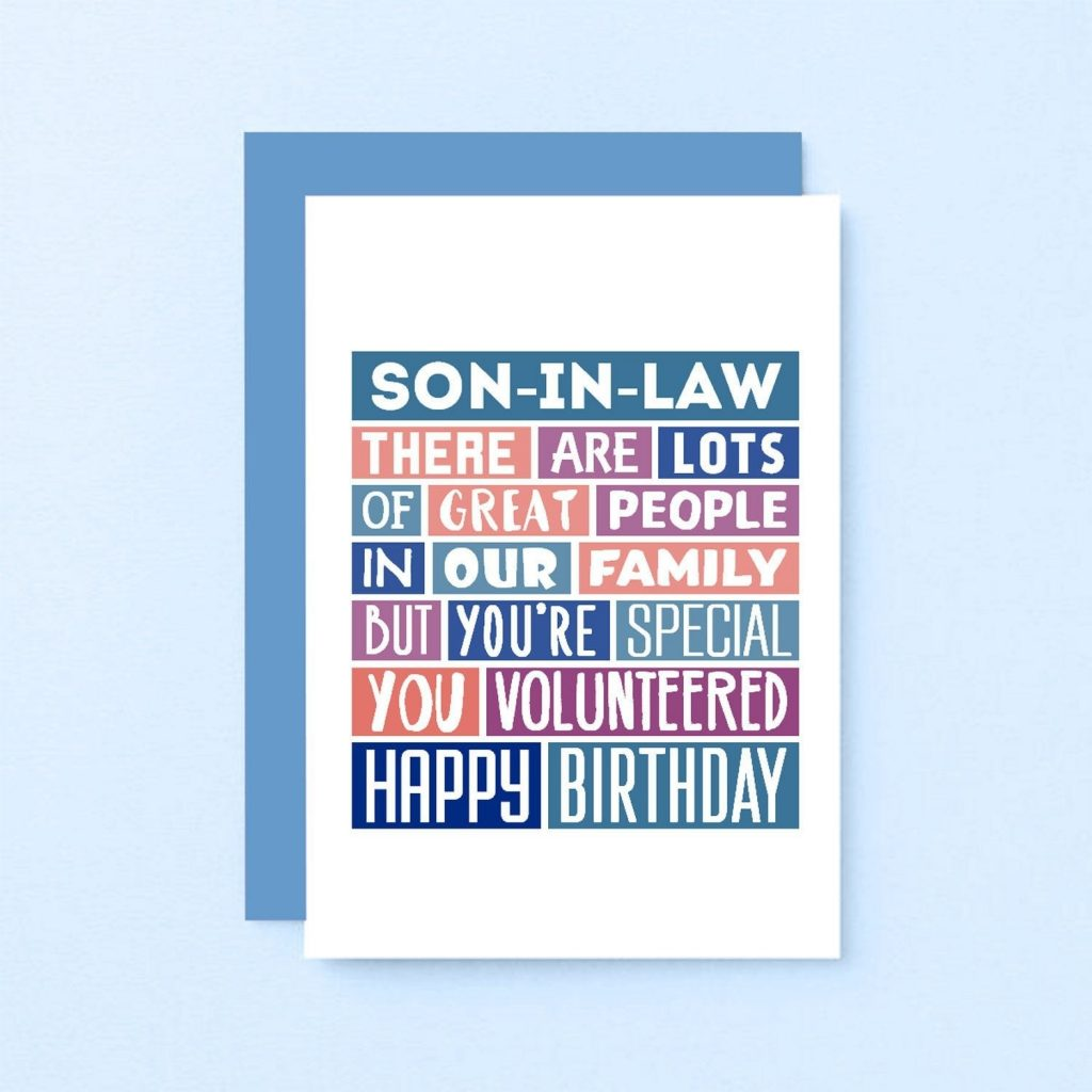 funny birthday card for son in law funny card son in law birthday card funny se0342a6