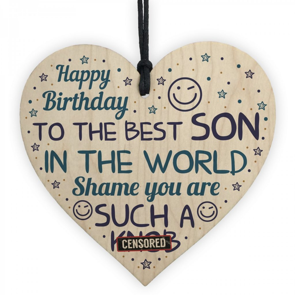 funny birthday gift for son rude birthday card for son heart