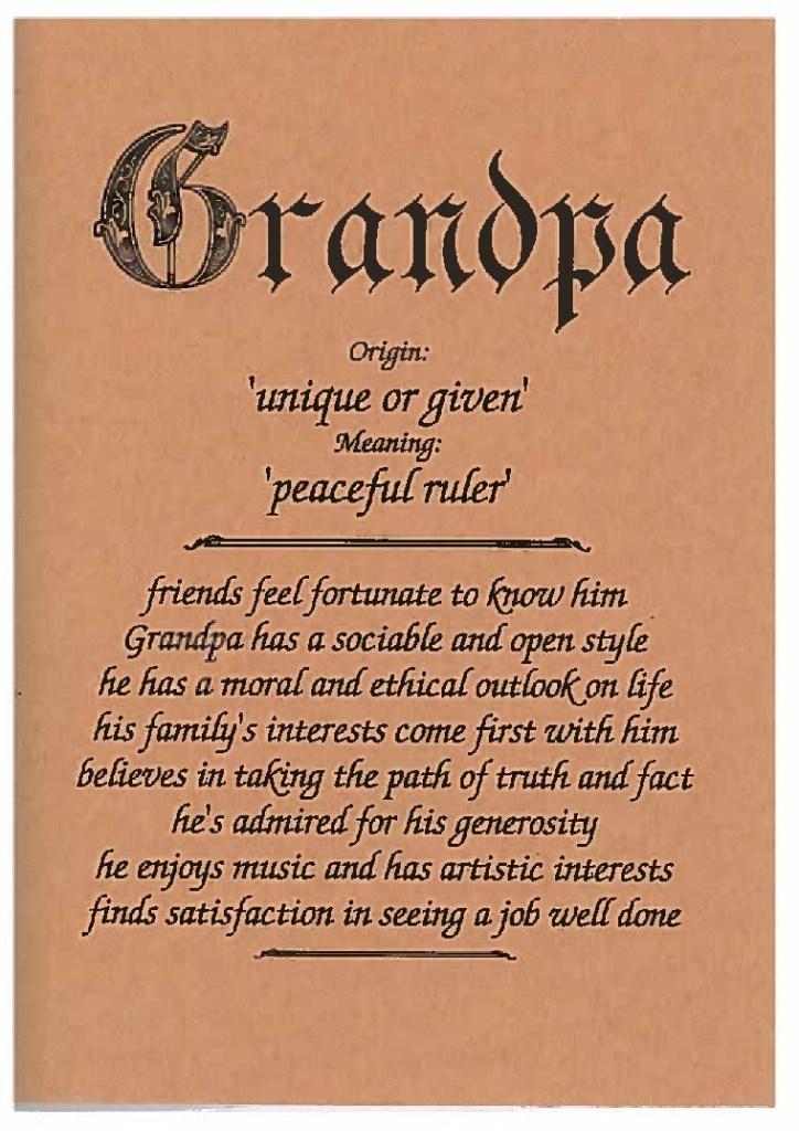 grandpa family card