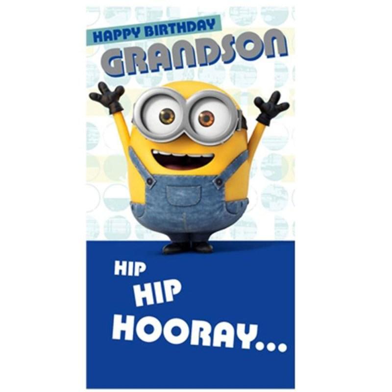 grandson minions birthday card