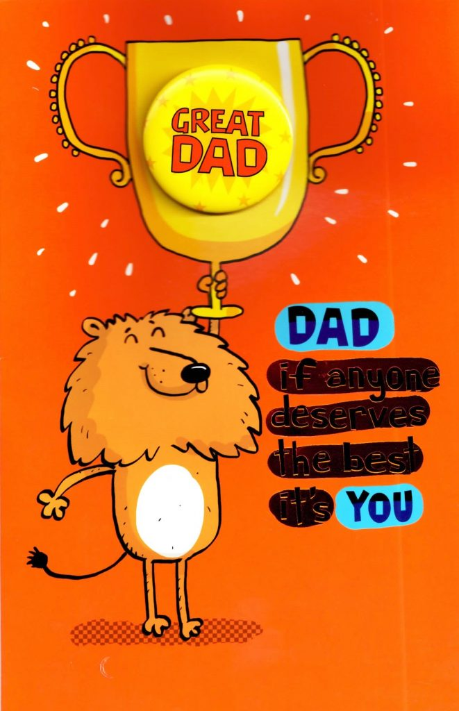 great dad funny deserves the best fathers day card