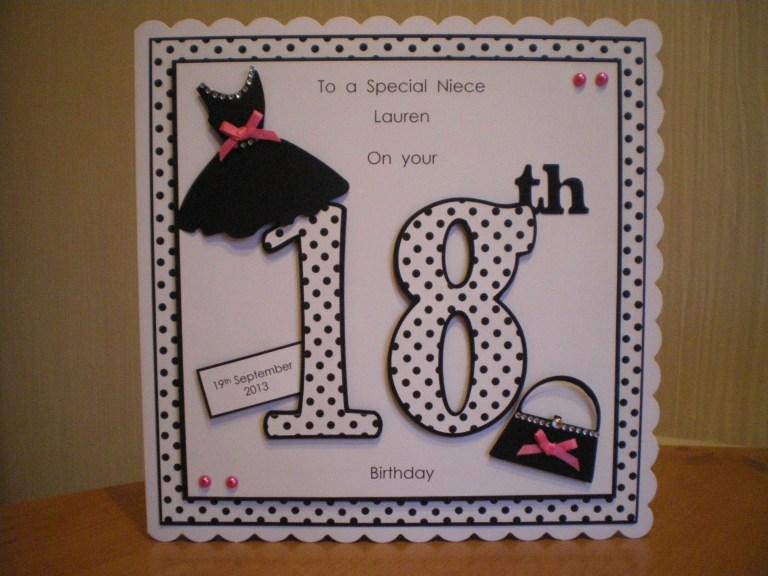 handmade 18th birthday card girl birthday cards 18th
