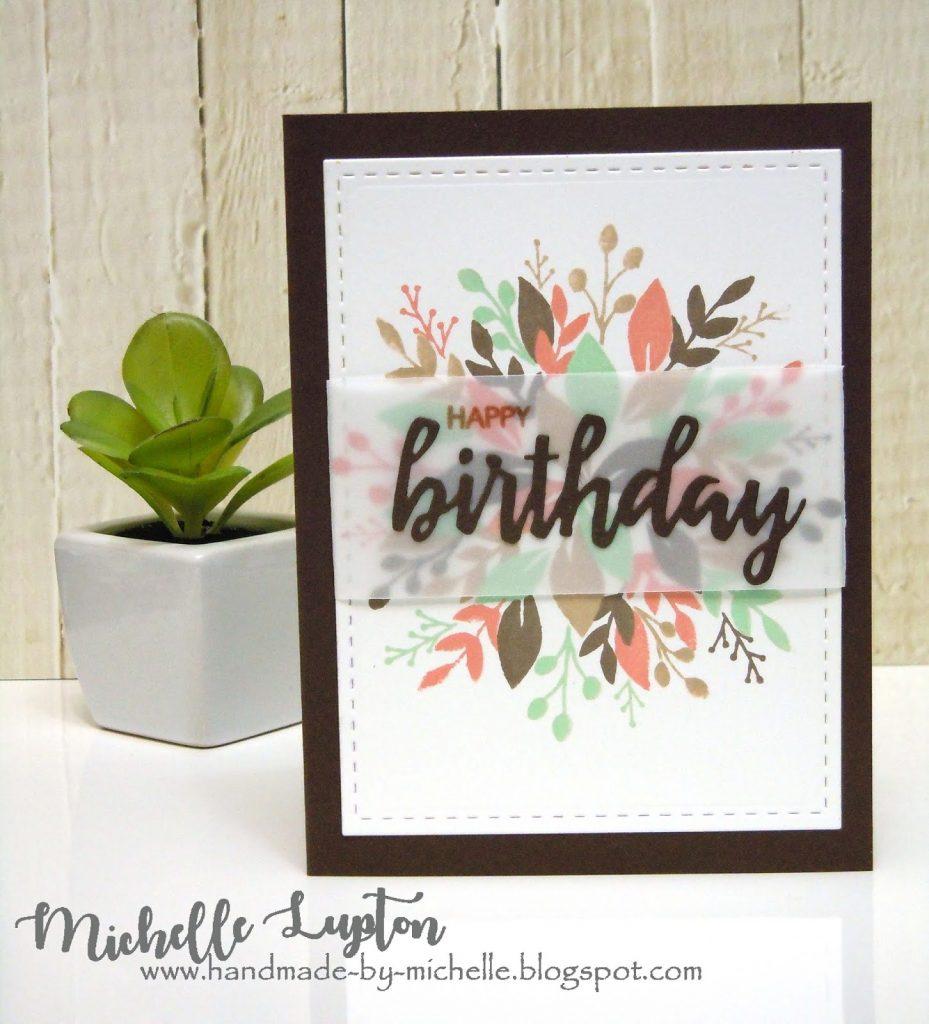 handmade michelle earthy tones for a masculine birthday card