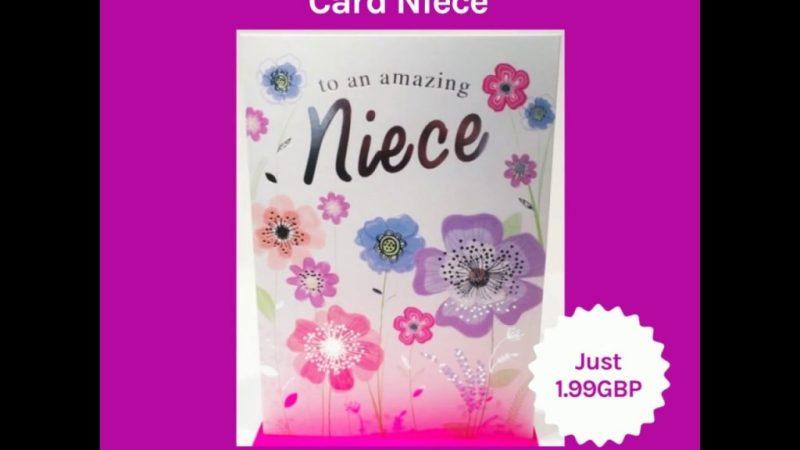 happy birthday card niece