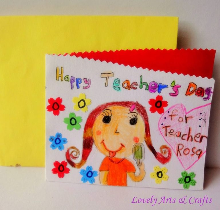 happy teachers day hand made greeting card cards