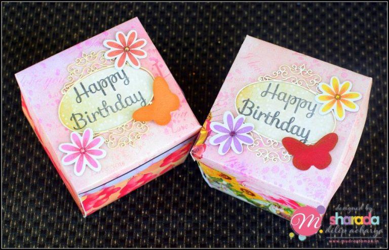 happymomentzz crafting sharada dilip explosion box