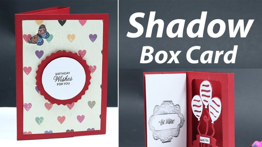 how to make a shadow box card diy craft idea video tutorial