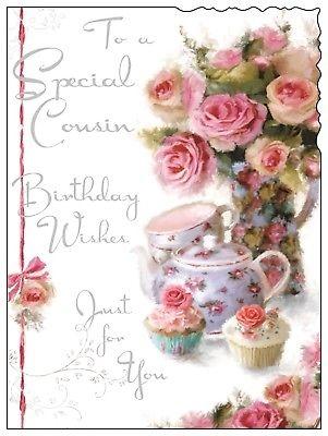 jonny javelin velvet birthday card to a special cousin birthday wishes v75 ebay