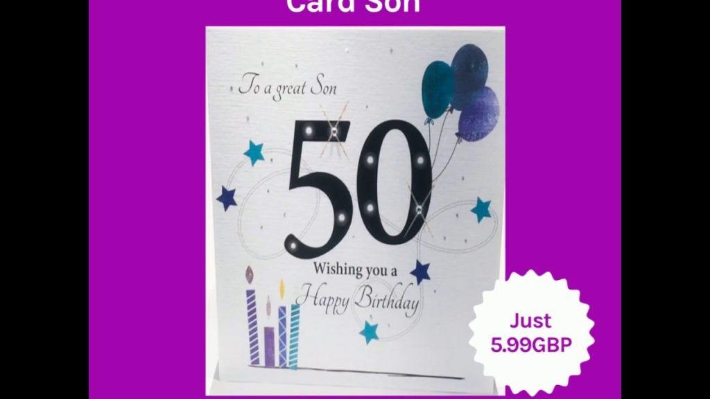 large 50th birthday card son