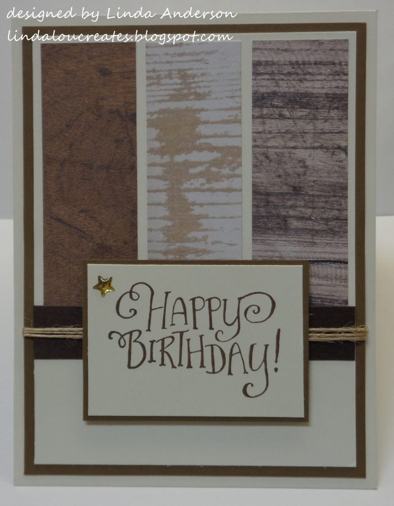 linda lou creates masculine birthday card