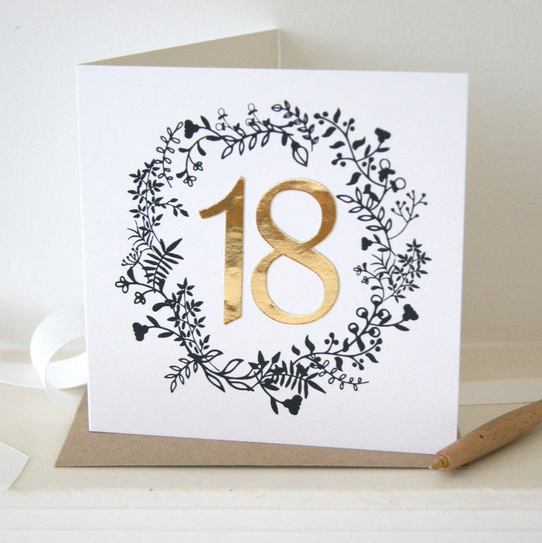 luxe gold 18th birthday card