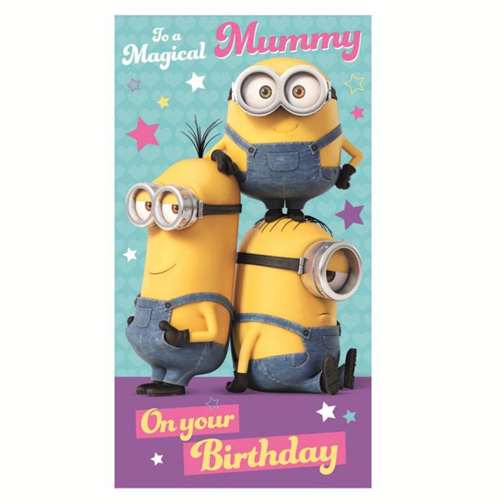 magical mummy minions birthday card