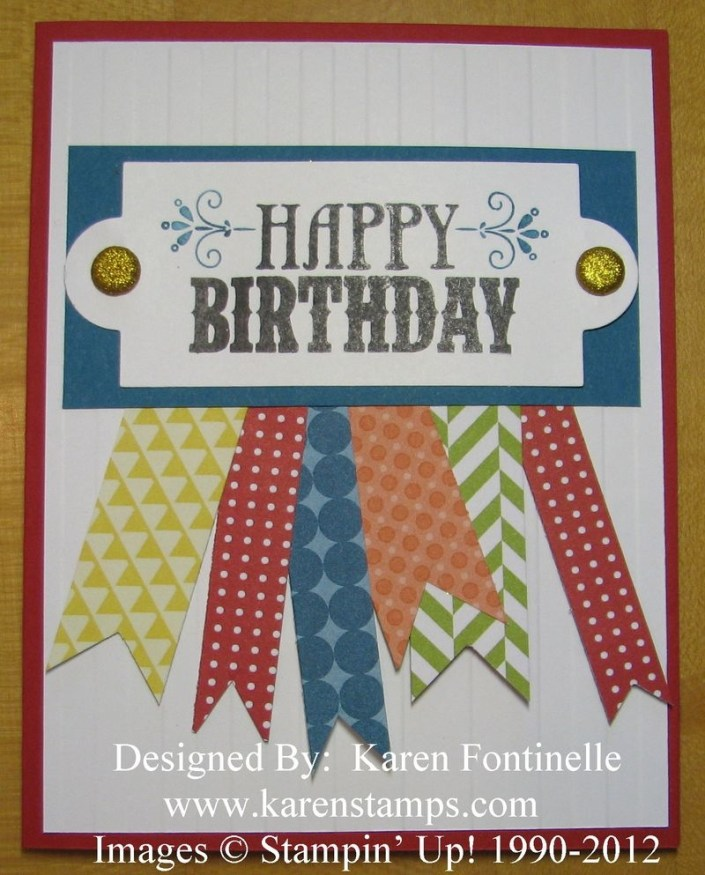 male birthday cardor any occasion card stamping with karen