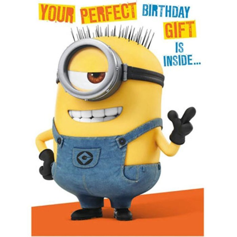 minion birthday card with assemble your own 3d minion