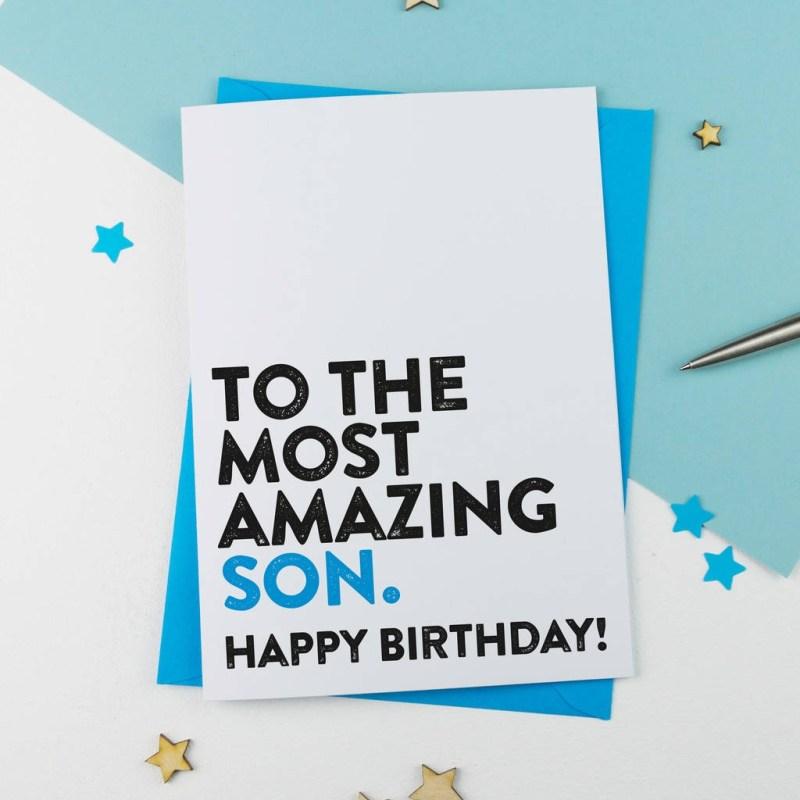 most amazing son birthday card
