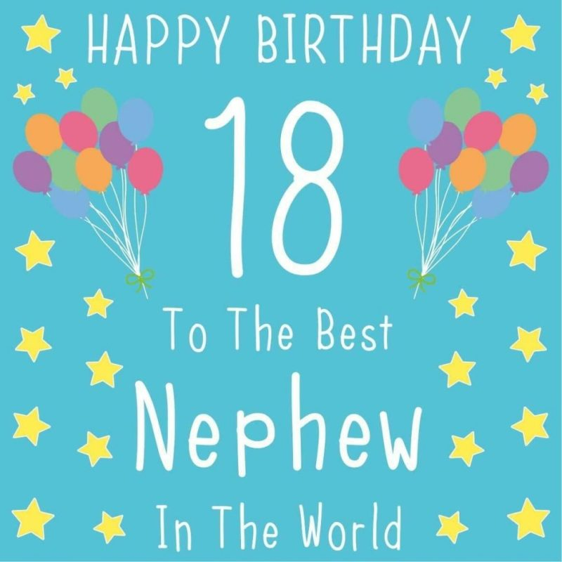 nephew 18th birthday card the best nephew in the world