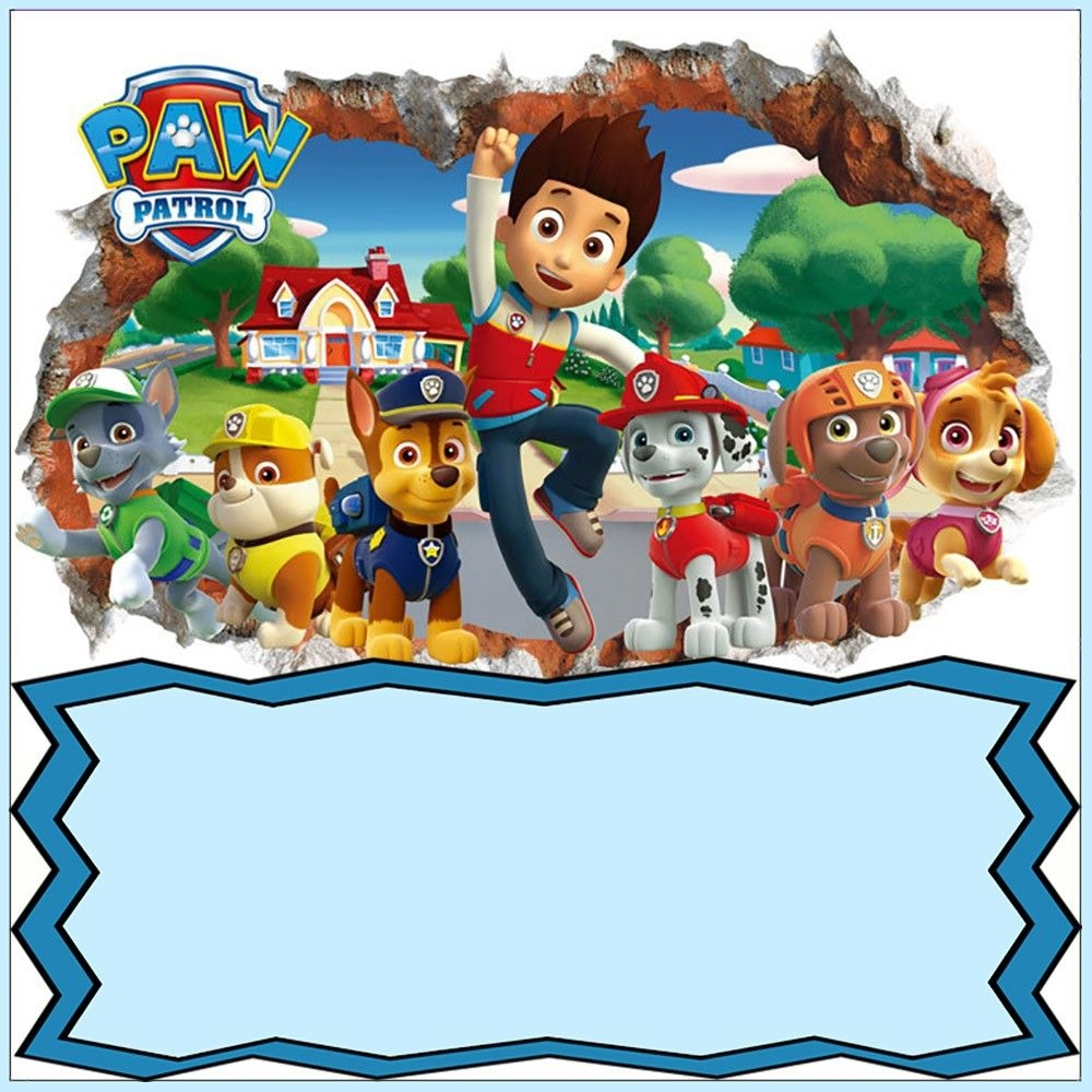paw patrol invitation card design in 2019 paw patrol