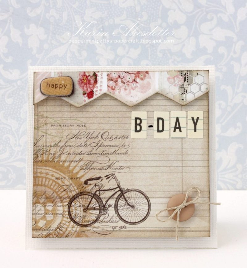 peppermint pattys papercraft vintage birthday card