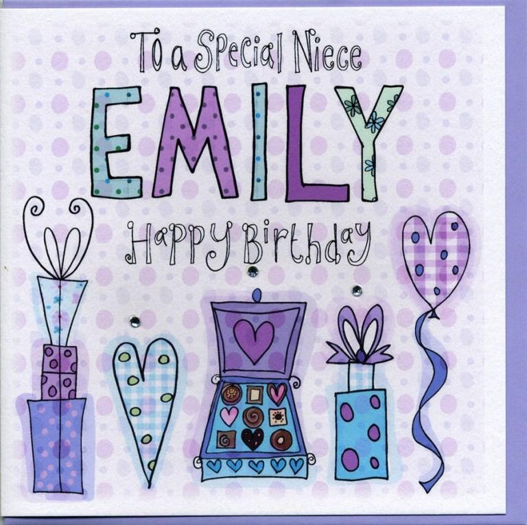 personalised niece birthday card