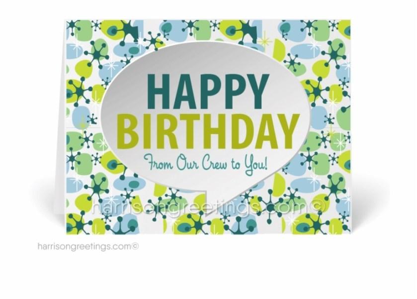 retro happy birthday cards from office cousin birthday