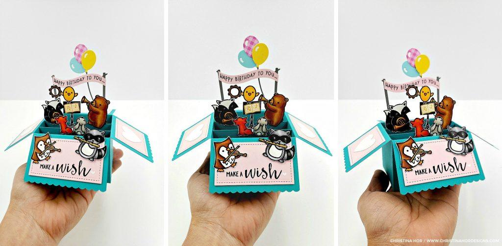 scalloped pop up box birthday card christina hor designs