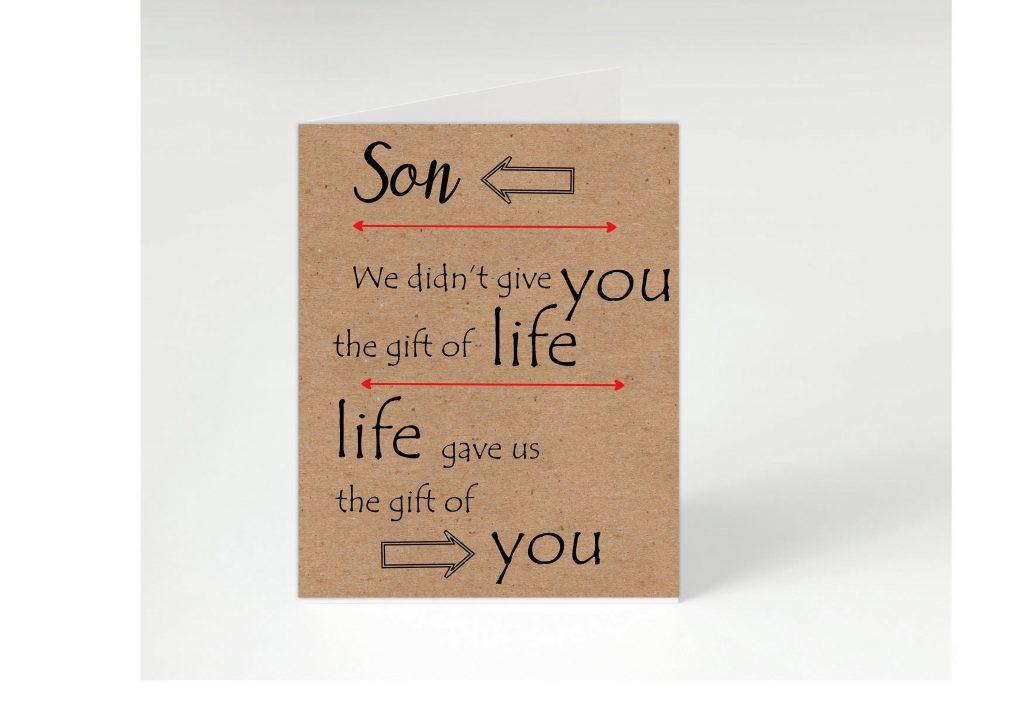 son birthday our son my son son card son card for son