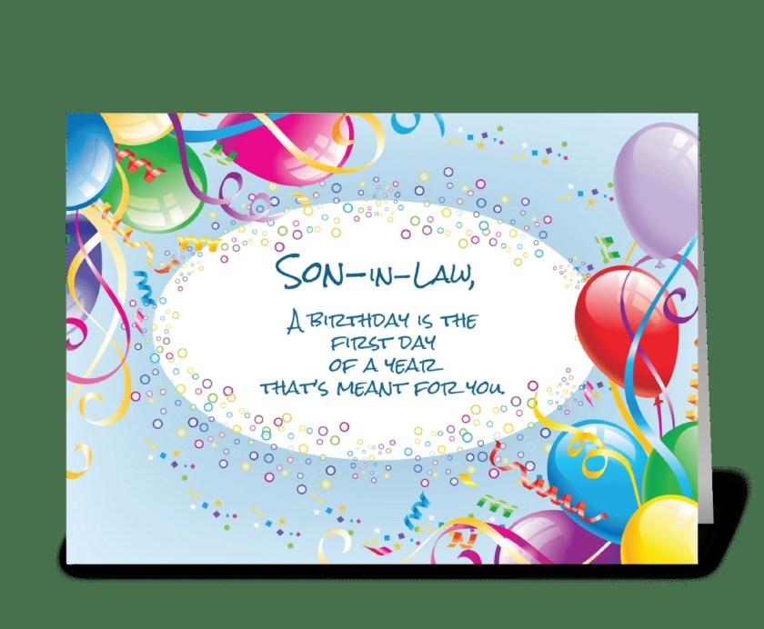 son in law birthday balloons