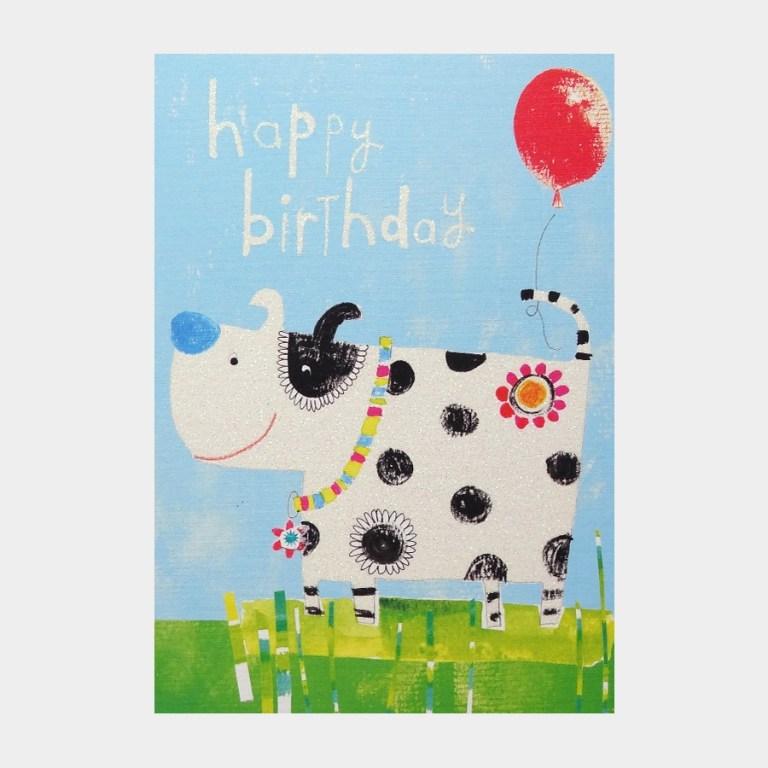 spotty dog birthday card