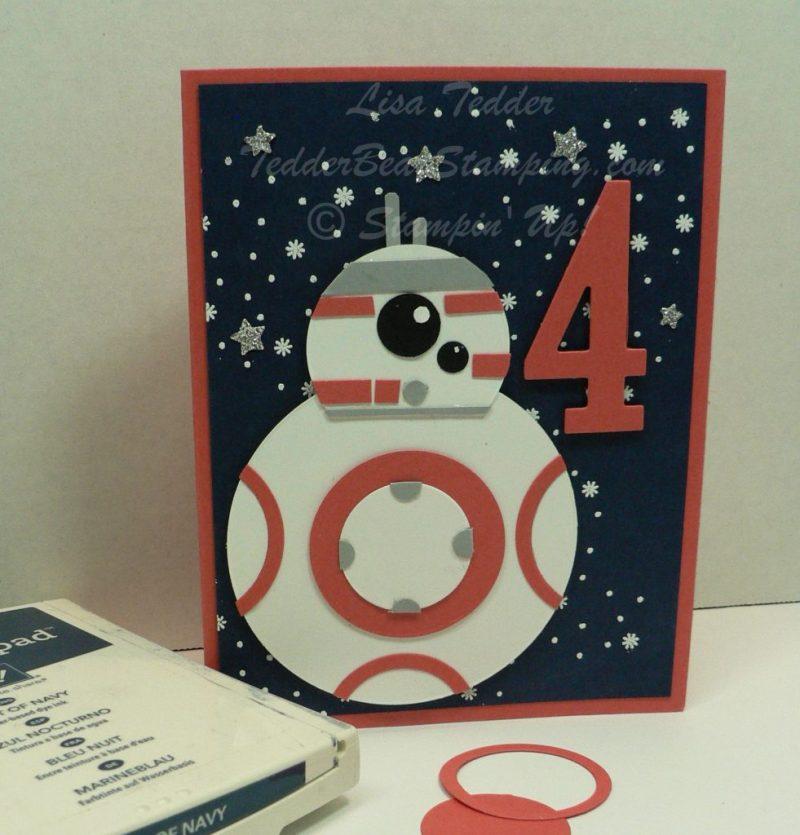 star wars handmade birthday card plus blog candy