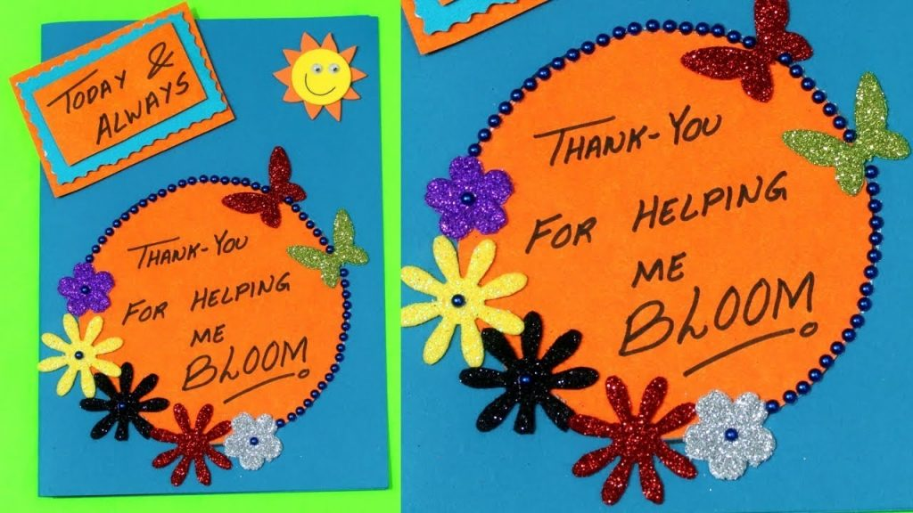 teachers day card card making handmade card birthday card card making competition in school