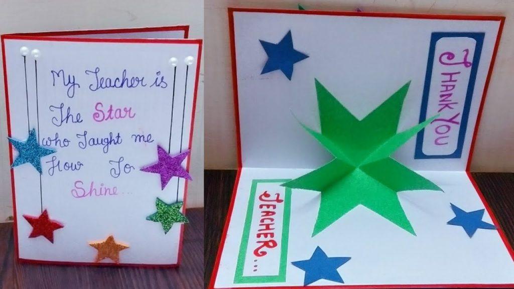 teachers day card how to make card for teacher birthday card making for teacher greeting card