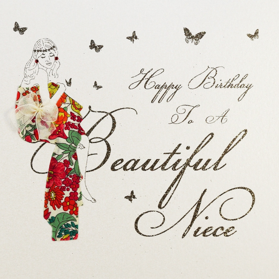 to a beautiful niece handmade birthday card mb19
