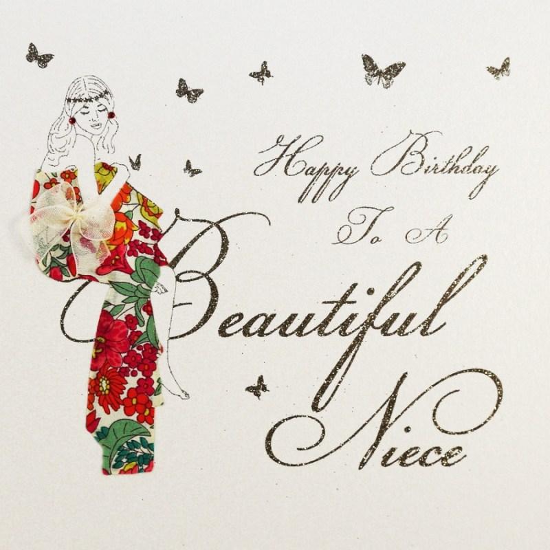 to a beautiful niece handmade birthday card mb19
